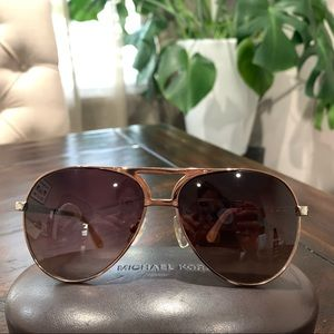 Michael Kors Rose Gold Aviators, Great Condition!